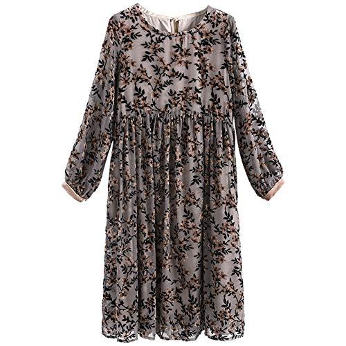 Vestito L Nuovo E Femminile Invernale Bingqz Gonna Sciolto Paragrafo In Lungo Fondo Temperamento Jinsi Inverno Jacquard Autunno gwaCndq