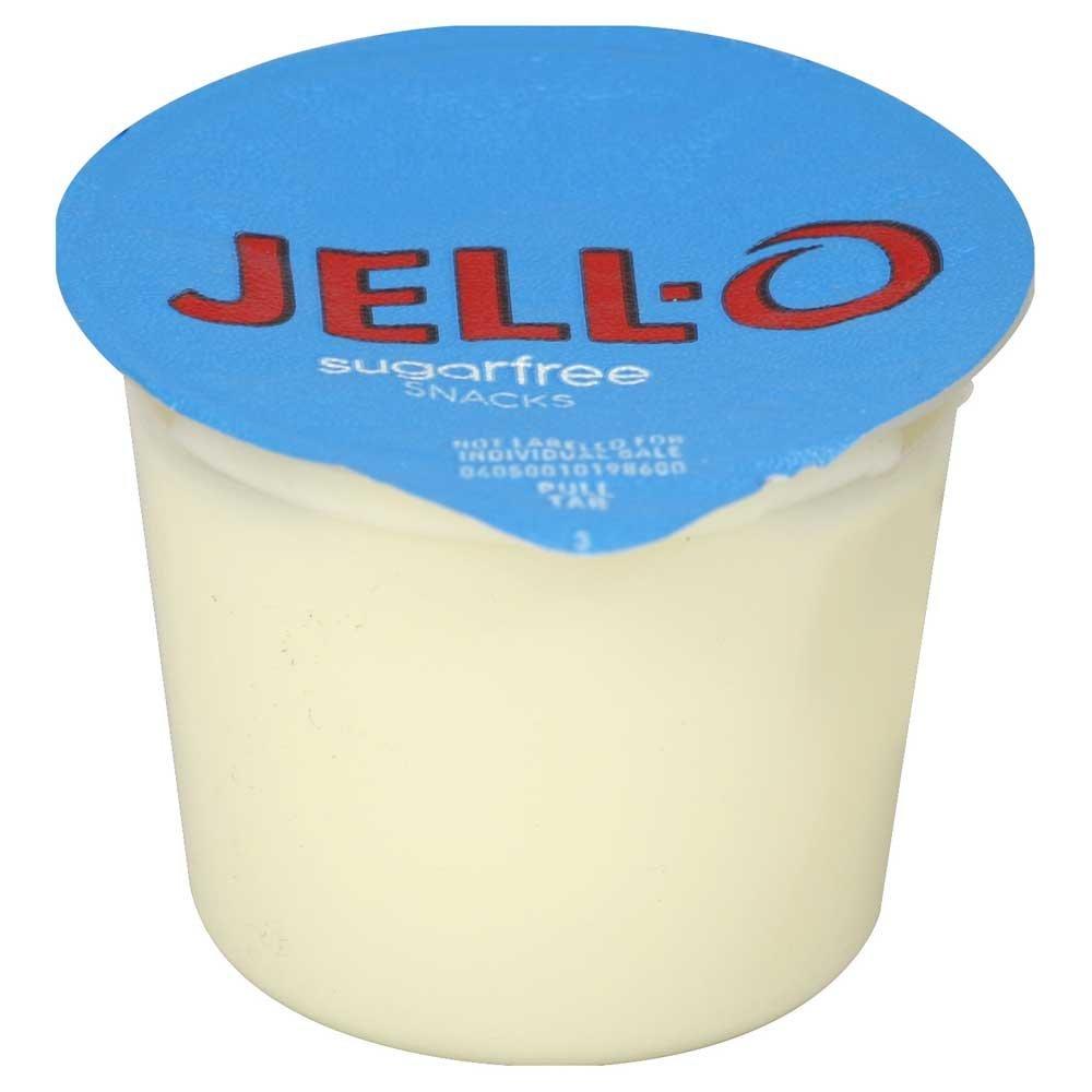 Jello Ready To Eat Sugar Free Vanilla Pudding Snack - 4 per pack - 6 packs per case.