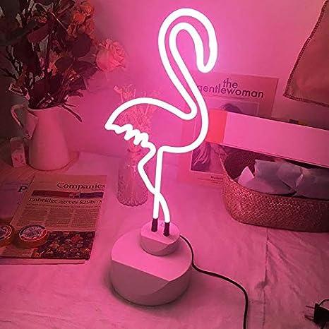 Luz de la noche Lámpara de mesa led noche lámpara de mesa Flamenco ...