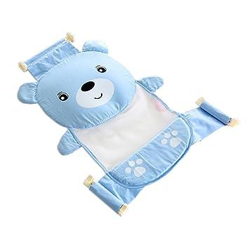 Arichtop Einstellbare Baby Badewanne Cartoon Muster Badesitz