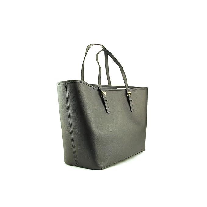 a222b0a3ecaf Michael Kors Jet Set Women's Travel Tote Handbag Purse - Black: Handbags:  Amazon.com