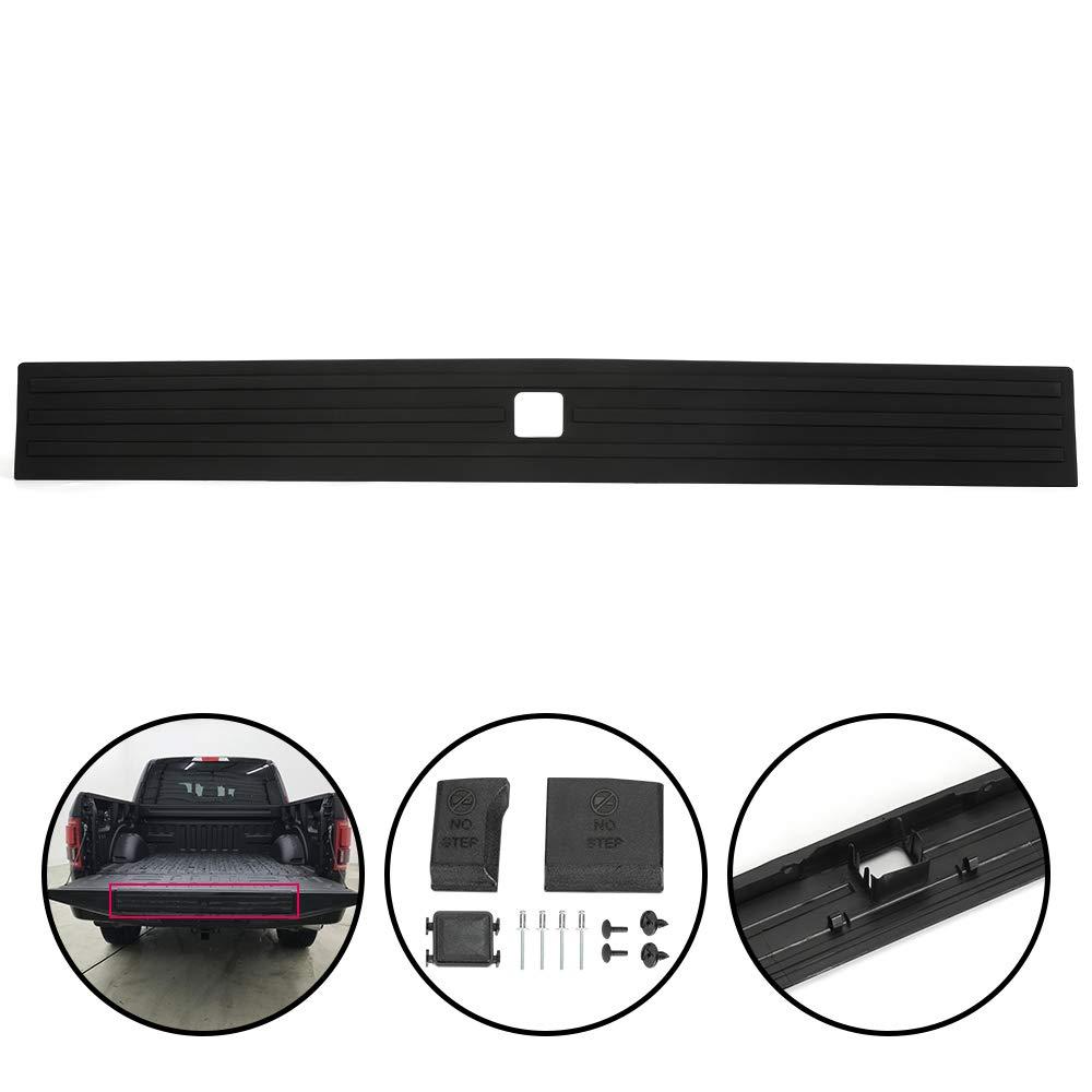 G-PLUS Compatible for Ford F-150 F150 2015 2016 2017 2018 2019 2020 Center Flexible Flex Step Tailgate Cap Pad Molding Trim with Release Button FL3Z-9940602-B