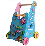 Vidatoy Multifunction Wooden Baby Walker Wonderful Push Toy for Kid