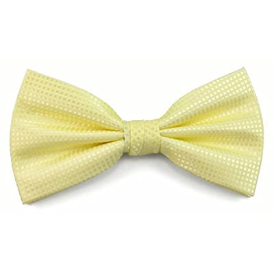 Absolute Stores Boys Yellow Woven Like Band Bow Tie