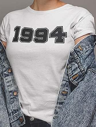 عتيق تيشيرت1994 بلايز نسائي قطن، ابيض، XL