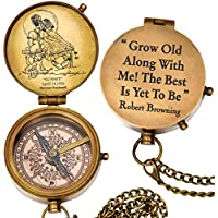 "grow old along with me engraved compass with norman rockwell""sunset"" engraving, valentine gift, anniversary gift, birthday, long distance, love, Sorry, Keepsakes, old memories, Love momentos"