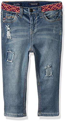 VIGOSS Girls' Little Fashion Crop Skinny Jean, Larkspur, 6 for $<!--$17.99-->