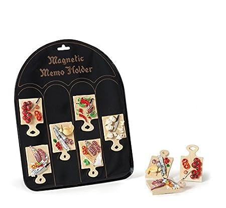 Juego de 6 piezas imanes nevera varios tablas con Salumi e ...