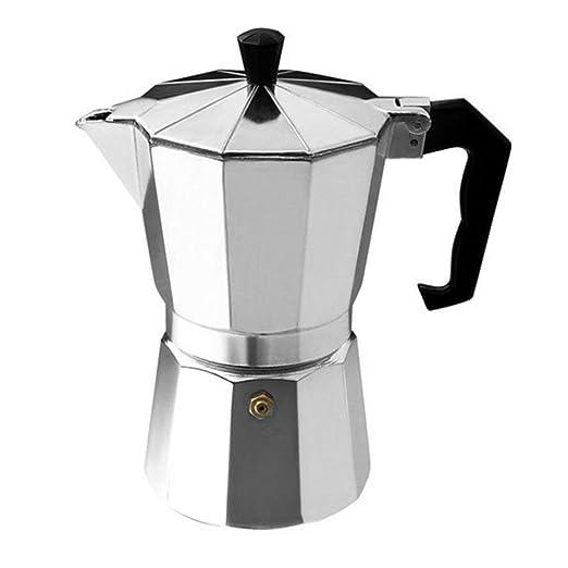 Cafetera de aluminio con 8 ángulos, para café expreso, moka, taza ...