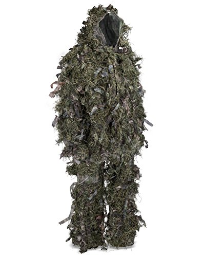 Hybrid-Woodland-Camouflage-Ghillie-Hunting-Suit-Light-Weight-Green-Brown