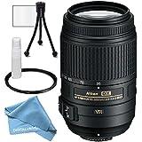 Nikon AF-S DX NIKKOR 55-300mm f/4.5-5.6G ED Vibration Reduction Zoom Lens with Auto Focus for Nikon DSLR Cameras, plus accessories
