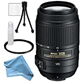 Nikon AF-S DX NIKKOR 55-300mm f/4.5-5.6G ED Vibration Reduction Zoom Lens with Auto Focus for Nikon DSLR Cameras, plus accessories