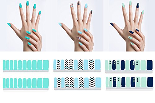 Angel Beauty - Premium Nail Wraps - City Girl, 3 Packs, 60 Nail Wraps, Salon Effect, Instant Manicure, Zero Dry Time, No Heat Lamp Needed, Long Lasting With Different Sizes (French Manicure Halloween Nails)
