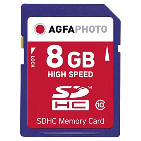Amazon.com: AgfaPhoto tarjeta de memoria SDHC – 8 GB de alta ...