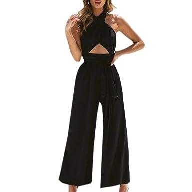 info for details for buy best MORETIME Femme Combinaisons Body Sexy Nouveau Produit été 2019 Pas Cher  Pantalon Large de Vacances pour Femmes à la Mode Combi-Pantalon Pantalon  Large ...