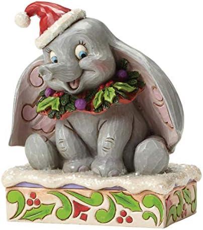 Disney Traditions by Jim Shore Christmas Dumbo Stone Resin Figurine, 5