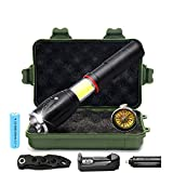 LED Tactical Flashlight, Ultra Bright, with 5 Light Modes(COB Work Light), Magnet,Water Resistant Torch, Zoomable for Camping Hiking etc