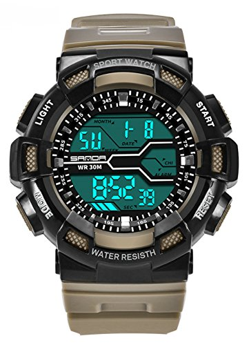 Water-proof Digital Outdoor LED Kids Sport Watches For Ages 11-18 Years Old Boys by Flowersone