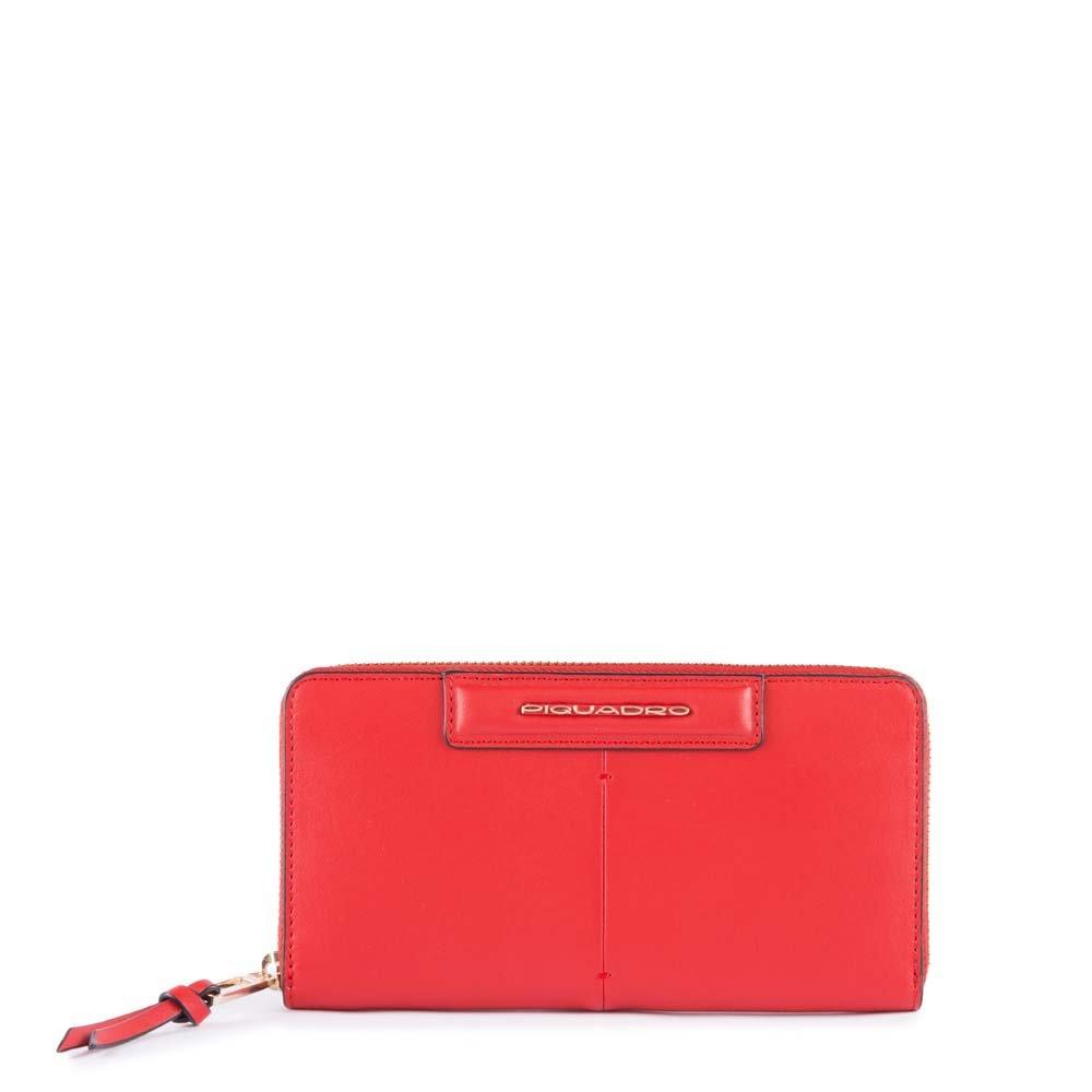 Piquadro Splash ID Case, 19 cm, Red (Rosso/Sabbia)