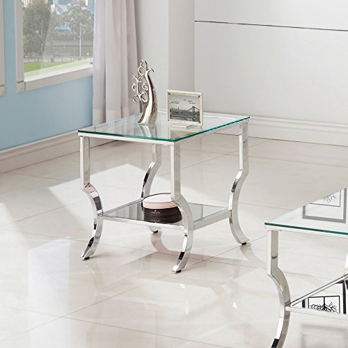Coaster 720337-CO Furniture Piece, Chrome (Coasters Chrome)