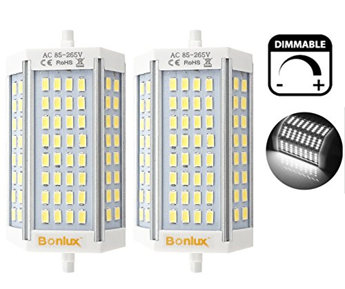 - Bonlux 30W R7S J118 Dimmable Double Ended J Type LED Light Bulb R7S LED Floodlight 300W Halogen Replacement Lamp (Daylight 6000K, Pack of 2)