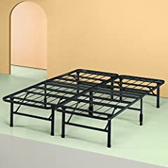 The Next Generation Bed Frame - The SmartBase Mattress Foundation by Zinus. The SmartBase eliminates the need for a box spring as your memory foam, spring or latex mattress should be placed directly on the SmartBase. Uniquely designed for o...