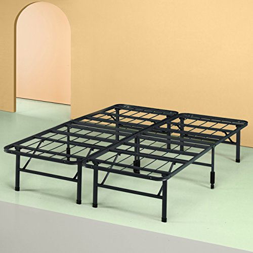 King Metal Bed Frames (Zinus 14 Inch SmartBase Mattress Foundation / Platform Bed Frame / Box Spring Replacement / Quiet Noise-Free / Maximum Under-bed Storage, King)