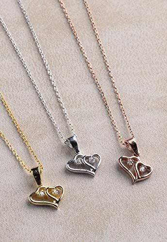 Diamond Necklace for Women, Diamond Heart Necklace, Small Heart Necklace, Heart Necklace Diamond, Tiny Silver Necklace, Girlfriend gift