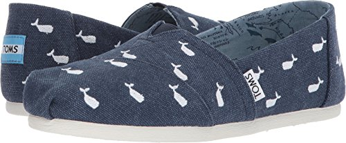 TOMS Women's Oceana Embroidered Whale 6.5 B US