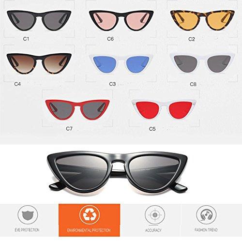 Gafas Lente Retro Escoger C2 súper primavera Bisagra Enorme UV400 sol Moda de Xinvision Mujer de 8 de gato Estilo Ámbar Amarillo Gafas Ojo Color para Marco BIxZqwa