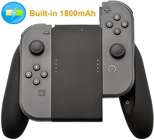 Aresh Compatible Nintendo Switch Joy-Con Charging Charger Grip Built-in 1800mAh Battery Nintendo Switch Joy-Con Accessory