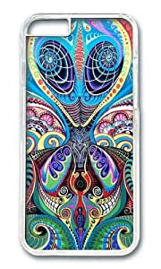 iPhone 6 Case,VUTTOO iPhone 6 Cover With Photo: Psychedelic Alien For Apple iPhone 6 4.7Inch - PC Transparent Hard Case