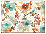 Cala Home 4 Premium Hardboard Placemats Table Mats, Nature's Palette