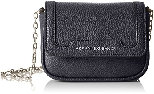 A|X Armani Exchange Chain Crossbody,Evening Blue,One - Bags Womens Exchange For Armani