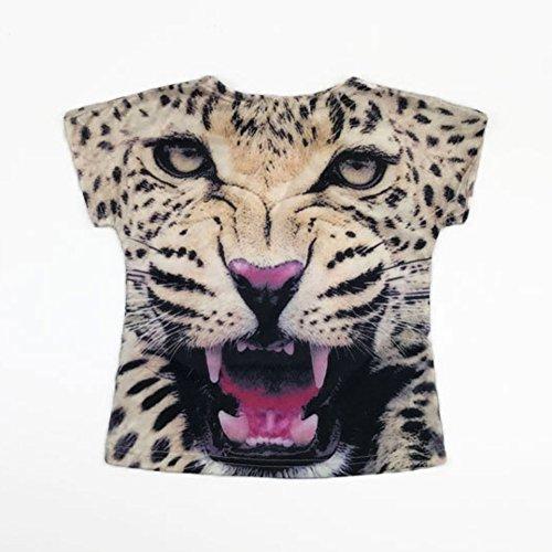 manica Wongfon 7 in estivi Outfit abiti corta 2 per America leopard Europa e pantaloni anni T Wind Bambini Bambino di Set leopardo due pezzi moda Ragazze shirt rwqSrv8