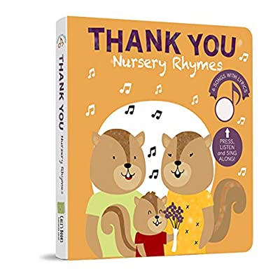Thank You - Interactive Musical Board Book. Nursery Rhymes to be Grateful. Educational Sound Book for Toddlers Ages 1-4: Toys & Games