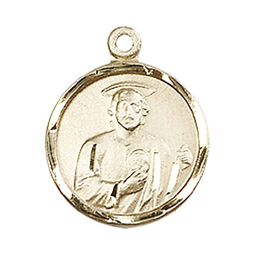 14kt Gold St. Jude Medal. Patron Saint of Desperate Situations