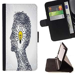 King Case - FOR LG OPTIMUS L90 - Bad times make good man - Prima caja de la PU billetera de cuero con ranuras para tarjetas, efectivo Compartimiento desmontable y correa para la mu?eca
