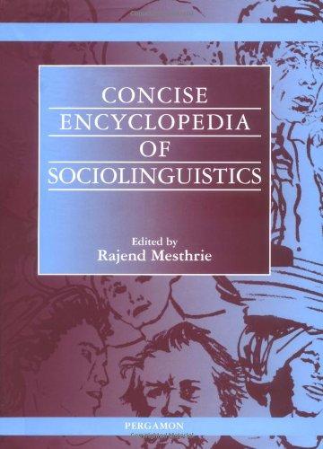 Concise Encyclopedia of Sociolinguistics