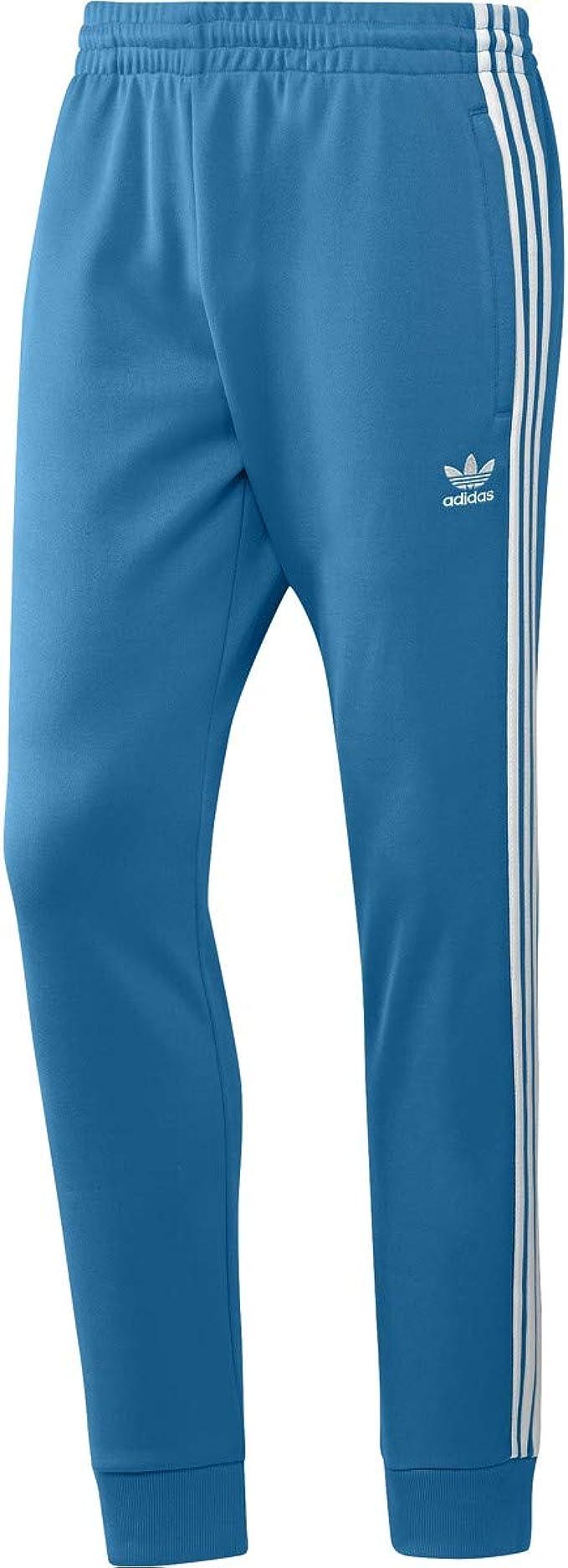 adidas Mens Athletic Pants CYAN DZ4635:
