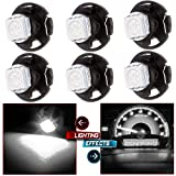 96 bronco center console - cciyu 6 Pack White T4.7 T5 Neo Wedge 12mm 5050SMD LED Bulb HVAC Center Console Light Replacement fit for 06 07 08 09 Mitsubishi Raider 12V