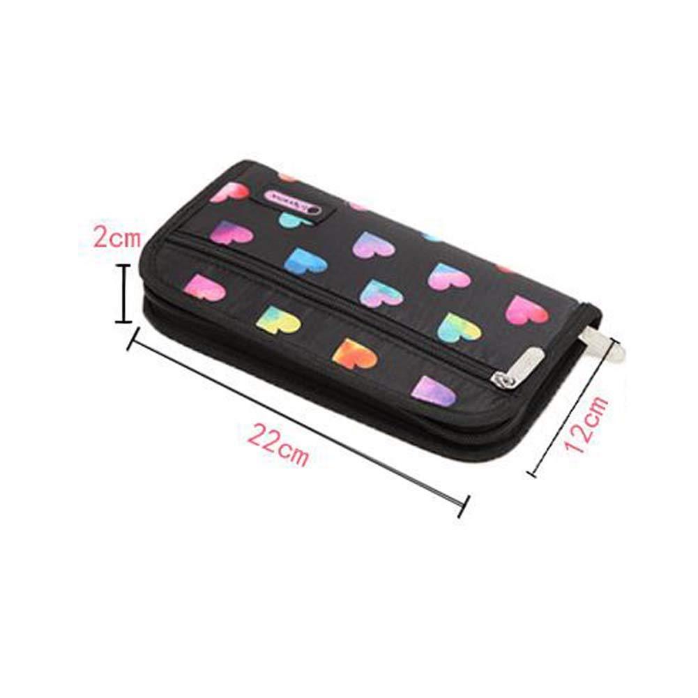 BRUIO Travel Multifunctional Wallet Family Passport Holder Credit Card Case Clutch Purse Waterproof Document Zipper Organizer,5PCS