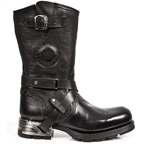 New Rock Boots M.mr003-c20 Urban Biker Hardrock Herren Stiefel Schwarz