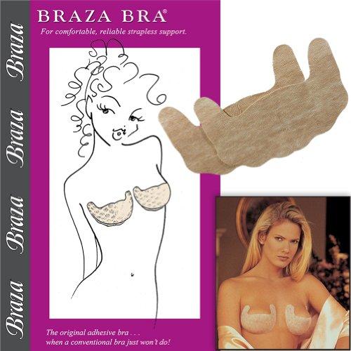 Braza Self Adhesive Strapless Bra - Size DD (Self Adhesive Strapless Bra)