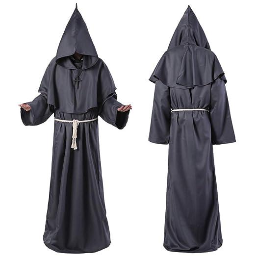 QWWR Traje de cosplay de Halloween traje de monje medieval ...