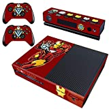 Decal Moments Regular Xbox One Skin Set Vinyl Decal Skin Stickers Protective for Xbox One Console Kinect 2 Controllers Iron Man