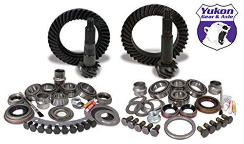 Yukon Gear YGK005 Gear and Install Kit Package (for Jeep TJ Dana 30 front Model 35 rear, 4.56 Ratio)