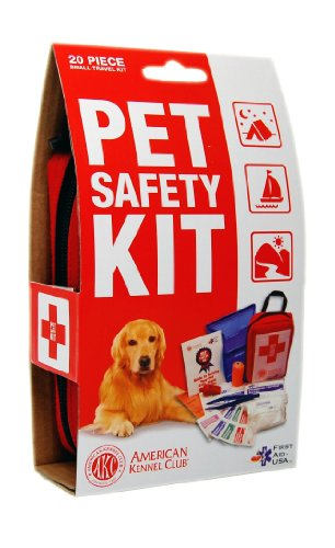 AKC Pet Safety Kit, Small, 20-Piece, Red