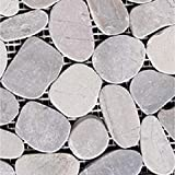 """Margo Garden Products PTS-HNLGY Rain Forest 12""""x12"""" Pebble Tiles"""