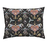 Gear Octopus Tentacle Urban Threads Lock Steam Punk Diver Standard Knife Edge Pillow Sham Octopuses in Love Black Scale by Chicca Besso 100% Cotton Sateen